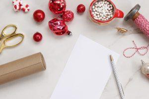 Christmas shopping preparations