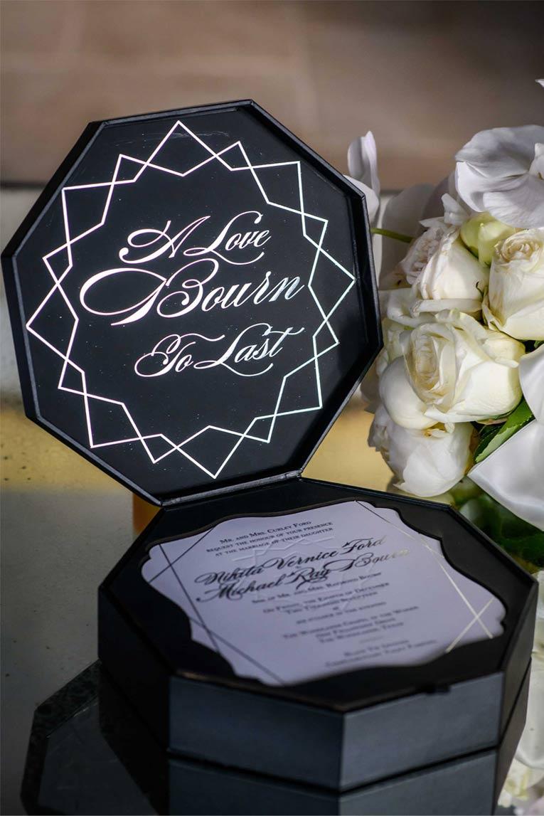 Leathe Wedding Invitation Box