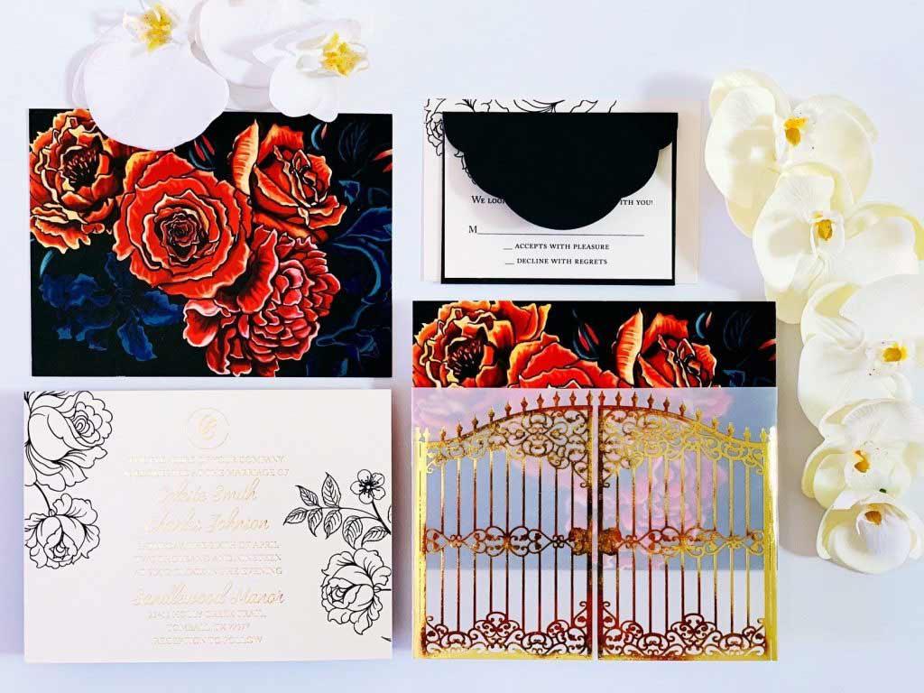 dark secret garden invitation