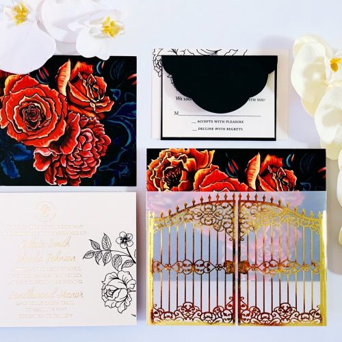 dark secret garden invitation