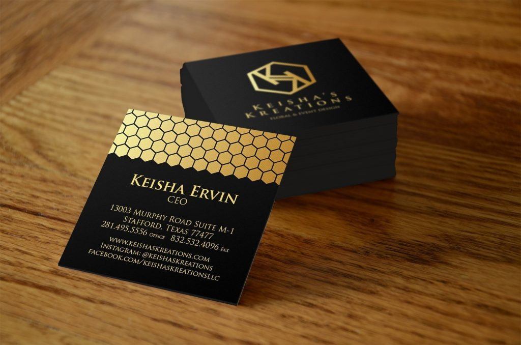 kiesha - business card