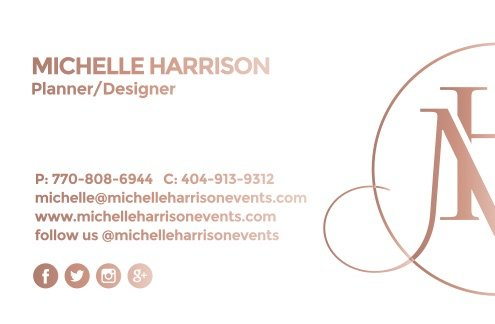 michelle harrison business card front