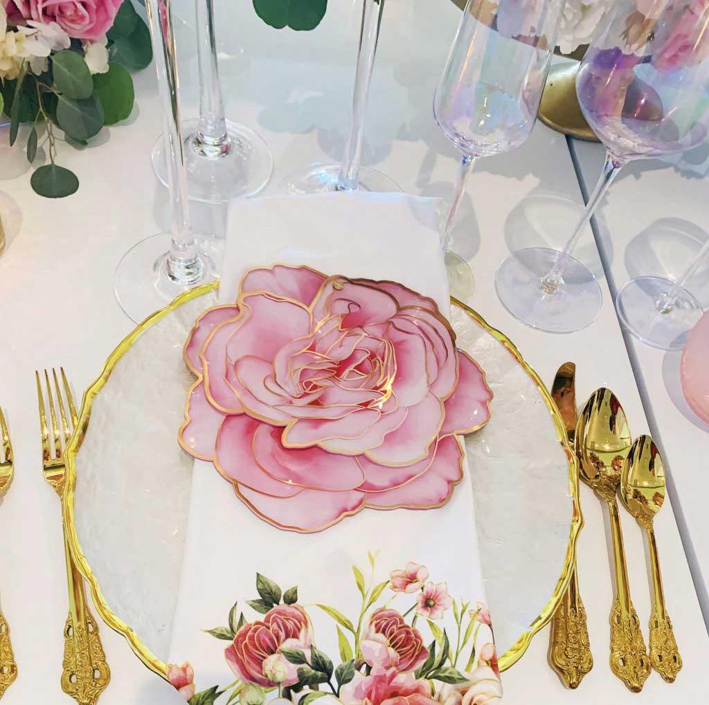 The Acrylic Rose Menu