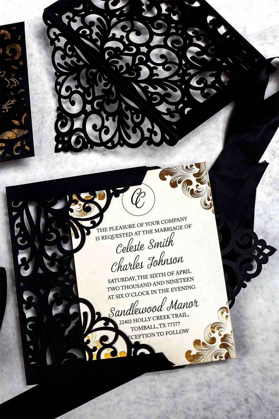 The Lacey Laser Cut Invitation